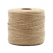 Hilo nylon S-Lon 0.6mm marrón beige