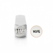 "ImpressArt Sellos con figura ""Hope"" 6mm plata"