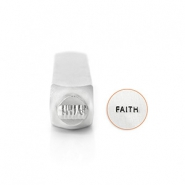 "ImpressArt Sellos con figura ""Faith"" 6mm plata"