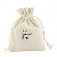 "Bolso en lino ""for you"" Blancuzco"