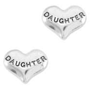 Floating Charms corazón daughter plata vieja