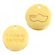 "Colgantes metálicos DQ 12mm ""made in Holland"" zuecos oro (sin níquel)"