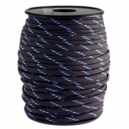 Cordón trendy Paracord 4mm negro-azul