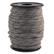 Cordón trendy Paracord 4mm gris-negro marrón