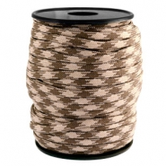 Cordón trendy Paracord 4mm beige-marrón oscuro
