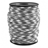 Cordón trendy Paracord 4mm gris-blanco