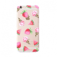 Funda de móvil Trendy para iPhone 7 Plus helado & fruta transparente-rosa verde
