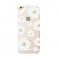 Funda de móvil Trendy para iPhone 6 Plus margaritas transparente-blanco amarillo