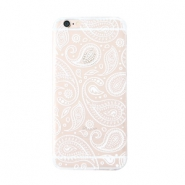 Funda de móvil Trendy para iPhone 5 paisley transparente-blanco