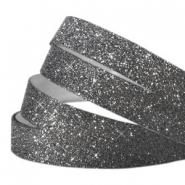 Cinta adhesiva Crystal glitter 10mm gris oscuro