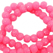 Abalorios brillantes 6mm rosa candy