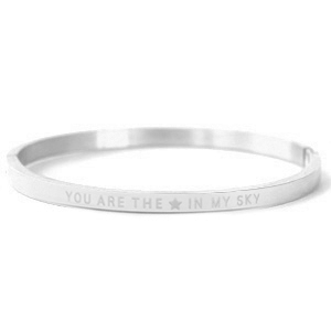 "Pulseras acero inox ""YOU ARE MY STAR IN THE SKY"" Plata"