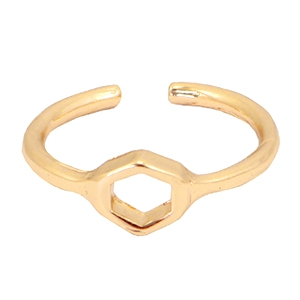 Anillos Must-have pentágono oro (sin níquel)